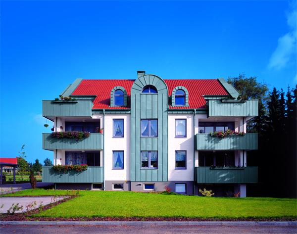 Rheinzink® utilizzato per il rivestimento di balconi e facciate