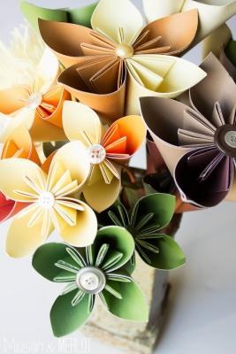 Bouquet di fiori origami muslinandmerlot.blogspot.com