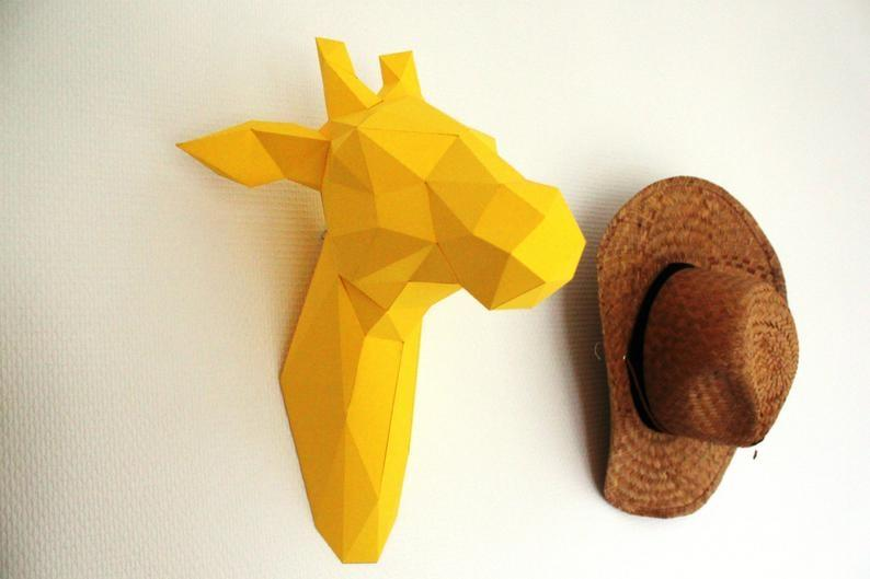 Animale trofeo origami su Etsy