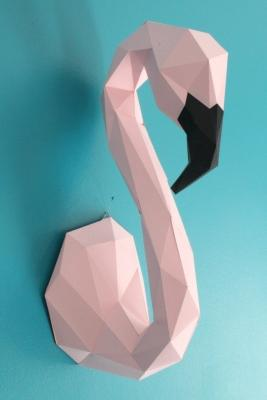 Kit per realizzare un fenicottero origami fai da te Etsy