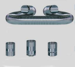 Tubazione in acciaio flessibile per inserimento in vecchie tubazioni esistenti
