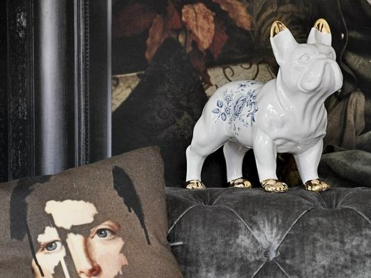Soprammobili in ceramica a forma di bulldog, da Mineheart