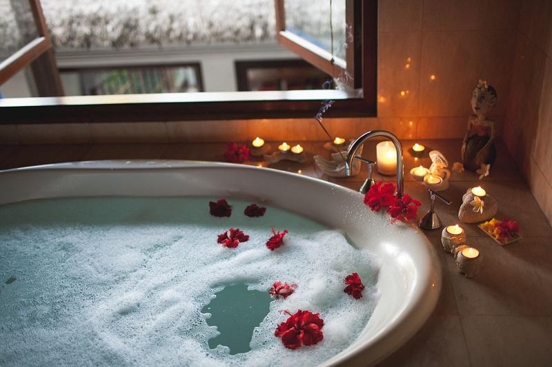 Un bagno romantico per San Valentino