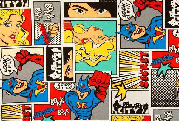 Tessuto da arredamento con Batman venduto da Tessuti.com