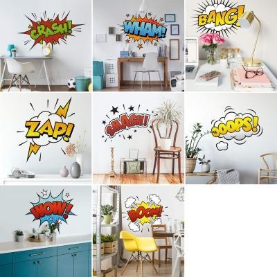 Adesivi murali con espressioni dei fumetti, by Wall-art