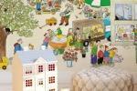 Fotomurale Wimmel - Mercato di primavera di Wall-art