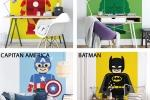 Fotomurali con supereroi di Wall-art