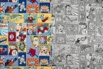 Tessuto da arredamento con Superman commecializzato da Tessuti.com