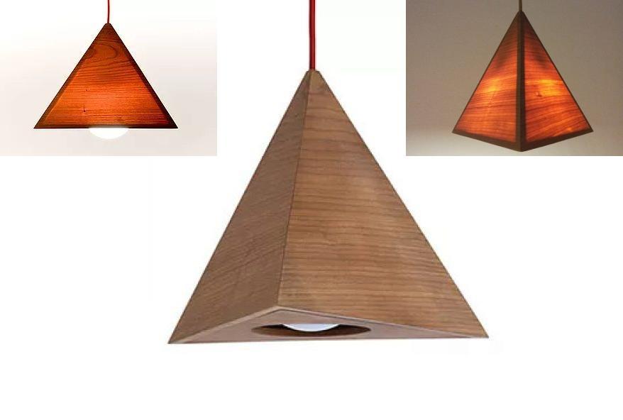 Complemento d'arredo lampada Tetraedro - by Xiloidea