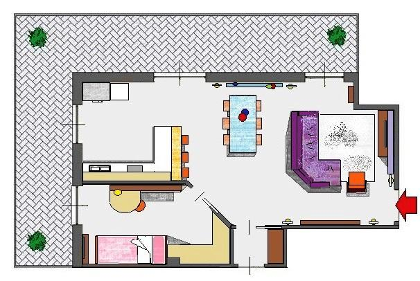 Ricavare una camera in più con una nuova parete diagonale
