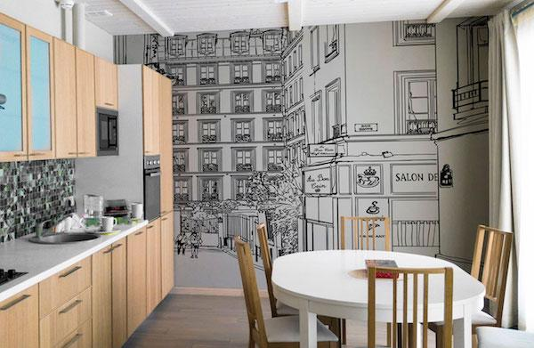 Carta da parati per cucina Parios - Design e foto by Artmosferae