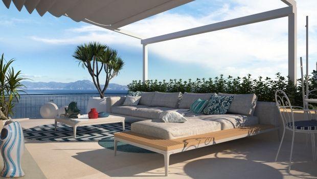 Restyling totale di un terrazzo con vista