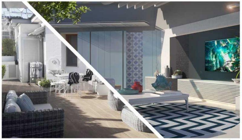 Progetto di restyling dello studio Blu Space di Napoli per un terrazzo in città
