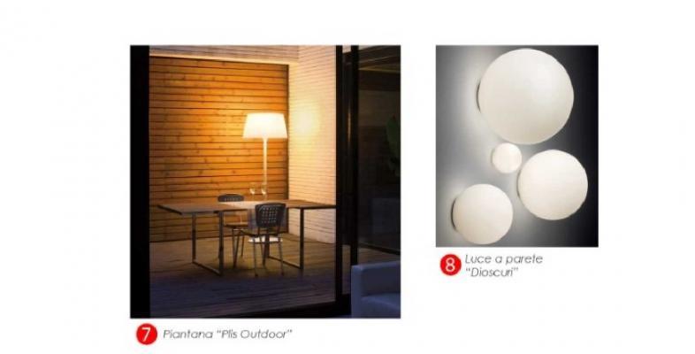 Soluzioni per l'illuminazione artificiale del terrazzo scelte da Blu Space