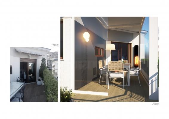 Realizzazione terrazzo prima e dopo a cura di Blu Space