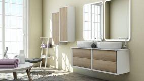 Lavabo doppio, soluzione funzionale per il bagno unico