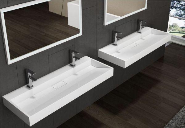 Lavandino una vasca con due rubinetti BS6001 di Bernstein
