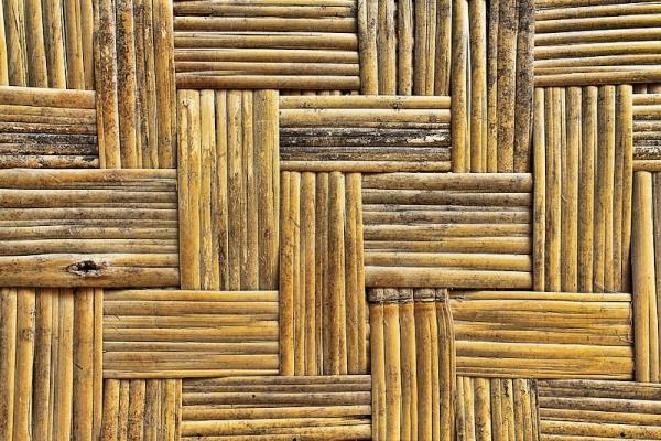 Tessuti biocompatibili: stuoia in bambù