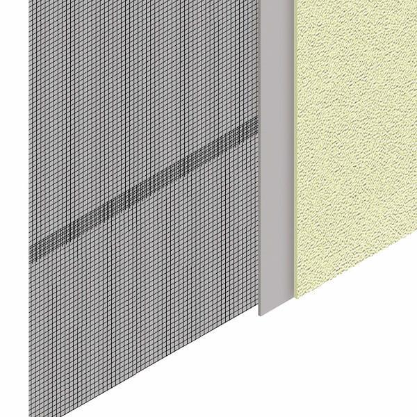 Schermatura di una parete con tessuto schermante