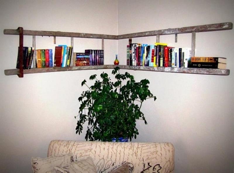 Una scala a pioli come libreria, da andalias.de
