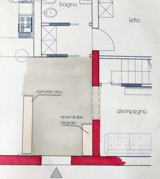 Ingresso su ambiente - Progetto by Caterina Scamardella Architetto
