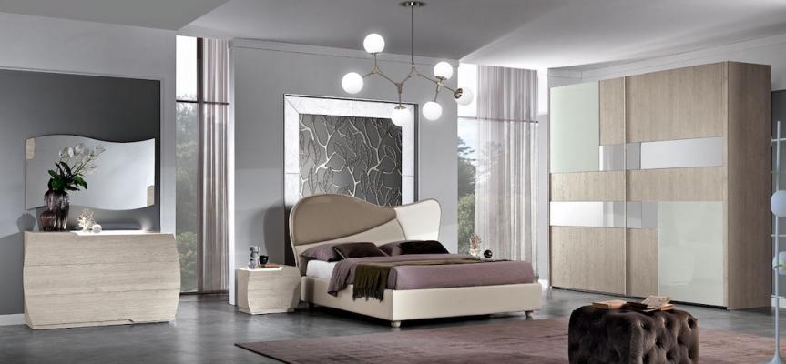 Camera da letto Martina Diamond bianca - Design e foto by MobilPiù