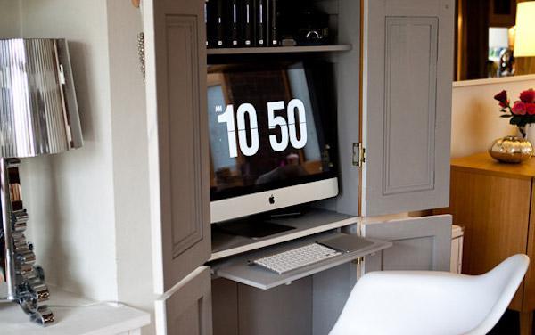 Home office e armadio - Fonte foto: Pinterest