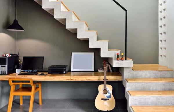 Home office nel sottoscala - Fonte foto: Pinterest