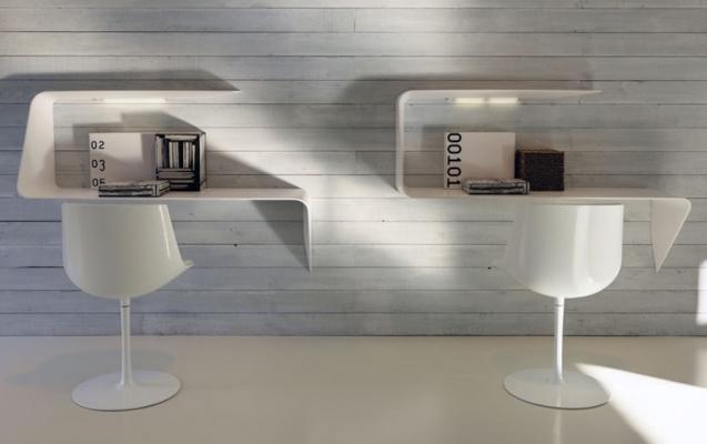Mamba, mensola-scrivania per home office - Design e foto by MDF Italia