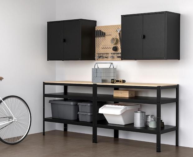 Laboratorio fai da te: organizzazione spazio, da Ikea