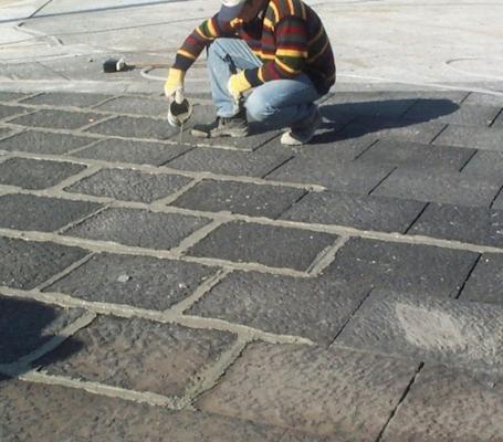 Pavimentazioni esterne in basalto sigillatura