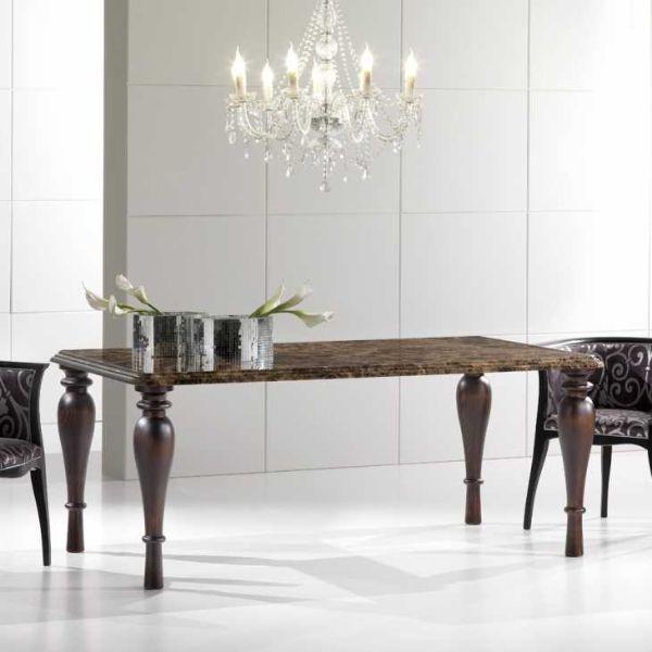 tavolo marmo emperador dark modello Nicolas di Viadurini