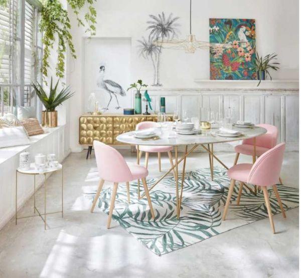 Tavolo con piano in marmo modello Izmir di Maisons du Monde