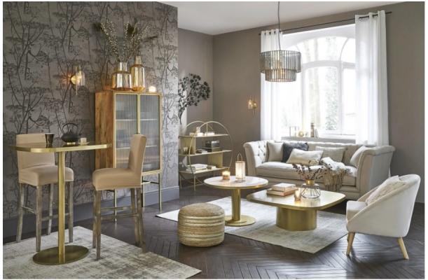 Tavolino Louxor in marmo di Maisons du Monde