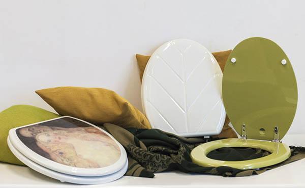 Copriwater corati e decorati con immagini o texture 3D di Mamo Italia