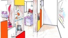 Dividere ingresso e salone con un versatile arredo attrezzato