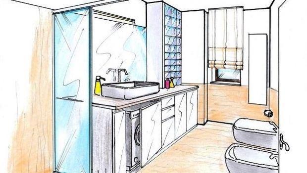 Soluzione progettuale per l'ampliamento di un piccolo bagno