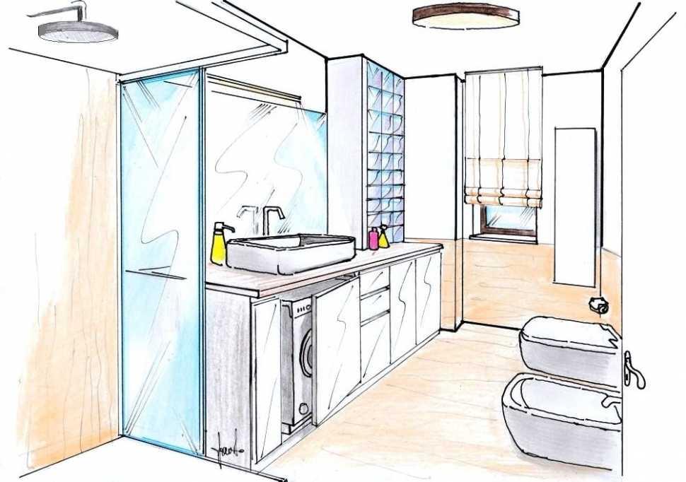 Ampliare il bagno - disegno di progetto