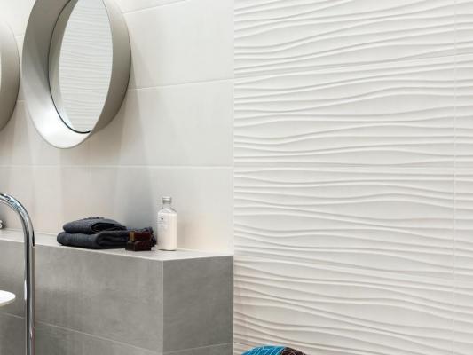 Ampliamento bagno - piastrelle Ascot 3D