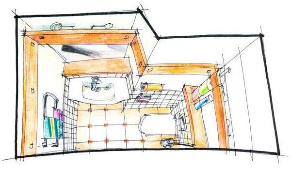 Bagno minimo o secondo bagno con solo lavandino e wc