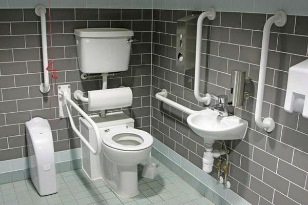 Bagno per disabili per un pubblico esercizio