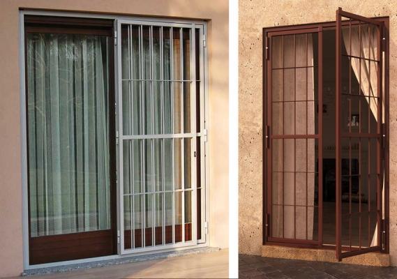 Inferriata apribile per porte finestre by Sicurezza Italia