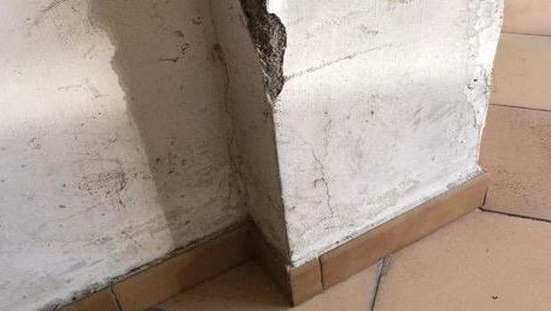 Umidità di risalita nei pilastri in calcestruzzo armato