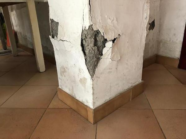 Umidità di risalita pilastro in calcestruzzo armato