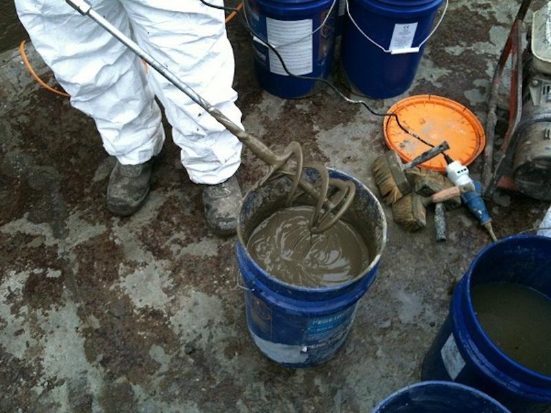 Umidità di risalita: preparazione boiacca con sistema penetron standard