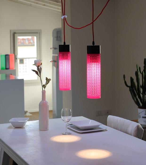 Lampadari da cucina in plastica riciclata, da Re+