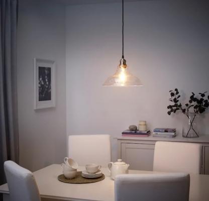 Lampadari da cucina in vetro trasparente, da Ikea