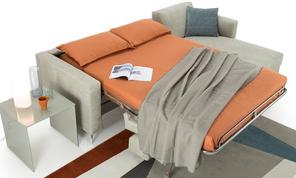 Divano letto Damien, aperto - Design e foto by Diotti
