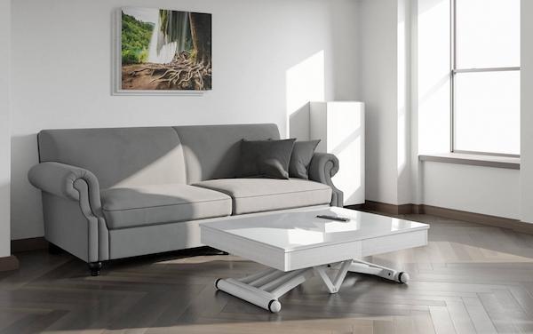 Tavolo trasformabile in cristallo - Design e foto by LG Lesmo