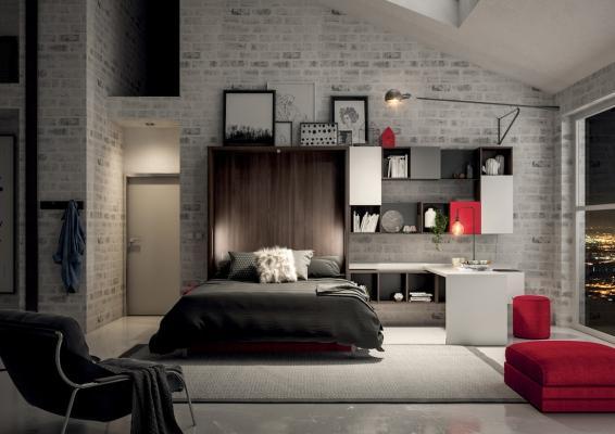 Parete attrezzata Block System 251, notte - Design e foto by Tumidei